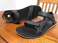 Mens Leather Teva Sandals Mountainscape Black Size 11