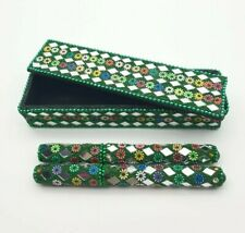 More details for mirror green pens in mirrored green box needs new ink biro's set of 2