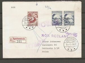 GREENLAND - Recommended airmalletter to addressee in Polen. NEW PRICE