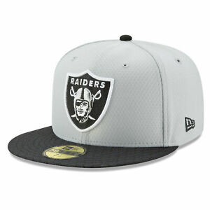 NEW ERA LV Las Vegas Raiders 59FIFTY 2017 NFL Sideline Official Fitted Hat Cap