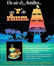 PUBLICITE ADVERTISING 126  1978   le  rhum des Antilles