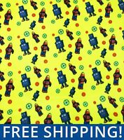 """Robots Fleece Fabric - 60"""" Wide - Style# PT1057 - Free Shipping!!"""
