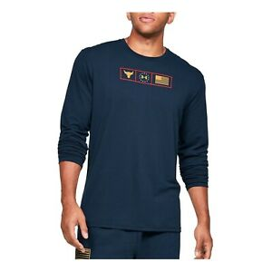 Under Armour Men's Project Rock Respect Graphic Long Sleeve Shirt 1346108-408