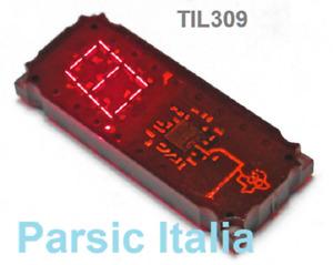 TIL309 NUMERIC Display with Logic - Texas TIL 309, Hexadecimal (  x 1 PEZZO )