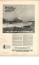 1959 PAPER AD 30' O'Gloucester Motor Boat Cabin Cruiser 135 HP