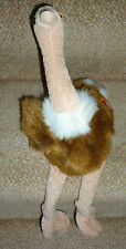 Mint Retired Ty Beanie Buddies Collection Plush Stretch Ostrich with Tags 1998