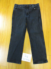 Wrangler 936WBK faded black jean tag 38x30 Meas 36x29.5 zip11446