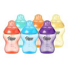 6 x Tommee Tippee Baby Feeding Bottles Closer Nature Fiesta, 260ml Slow Flow 0m+