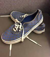 Vans Checkers Grey Navy Shoes Size US Kids 5 UK 4 EURO 36.5