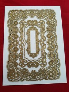 Anna Griffin Christmas Holiday Concentric Frame Dies - Ornament Holly