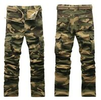 Men's overalls Camouflage Cotton Pants Trousers Army Field Outdoor Casual Combat