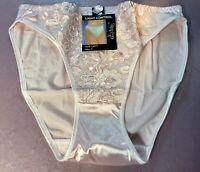 "Women Panties,Bikinis ""Eva Cervantes"" Size S.Beige Satin W/Floral Decoration"