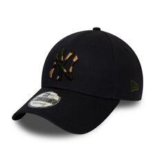 NEW ERA NEW YORK YANKEES BASEBALL CAP.9FORTY MLB CAMO BLACK STRAPBACK HAT S20 6