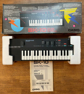 Rare CASIO SK-10 Sampling Keyboard Tested Working in box + instructions