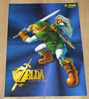Nintendo 64 1998 The Legend of Zelda Ocarina of Time rare Poster 42x58cm N64