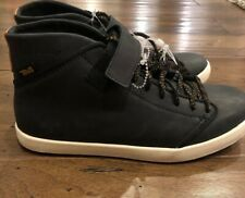 BRAND NEW TEVA WILLOW CHUKKA SHOES BLACK LEATHER MID TOP SNEAKERS WOMENS 5