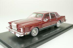 Lincoln Continental VI Signature Series 1980 Red 1/43 Neo 43544 New