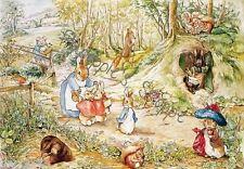 Peter Rabbit Beatrix Potter Fabric Block Bunnies Rabbit Little Village