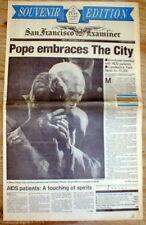 BEST 1987 newspaper Catholic POPE JOHN PAUL II visit to San Francisco CALIFORNIA