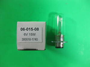 Bulb 6V 15W 06-015-08 -- 380018-1740 -- New