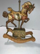 Vintage Willits Porcelain Brass Box Carousel Waltz Rocking Horse See Video