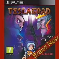 TESLAGRAD - PlayStation 3 PS3 ~7+ 2D puzzle/platform Game ~ BRAND NEW & Sealed!