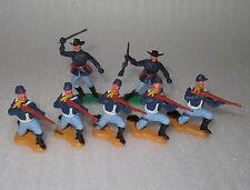 Timpo Toys    Nordstaaten  Soldaten Gewehrschützen mit Offizieren Nr. 4