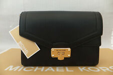 Michael Kors Genuine Kinsley Medium Shoulder Flap Satchel Bag BNWT Black