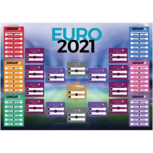 Football Tournament World 2020 2021 Planner Poster Wall Chart Follow Along