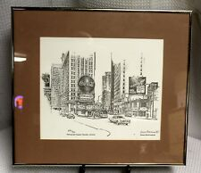 Vintage Bruce Braithwaite Framed Print of Margaret Mitchell Square (Atlanta, GA)