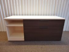 "Herman Miller 52"" Low Credenza with Two drawers and Open Cabinet on Left Side"