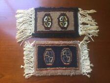 Set of 2 Handmade Miniature Wool Rug, Dollhouse Decor Furniture & Flooring