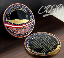 Us Veteran Challenge Coin Commitment Honor Respect Veterans Thanksgiving Gift