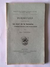 FORMULES POUR TROUVER JOUR DE LA SEMAINE 1903 DATE DONNEE CALCUL MATHEMATIQUES