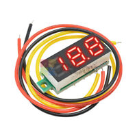 "10pc 0.28"" Red LED DC0-100V Voltmeter Digital Display Voltage VOLT METER 12V 24V"
