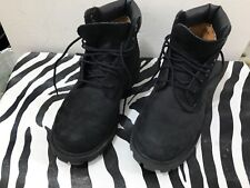 Timberland black youth lace up work boots size 2