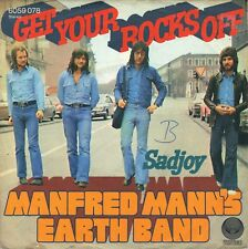 "7"" Manfred Mann's Earth Band – Get Your Rocks Off (Bob Dylan) // Germany 1973"