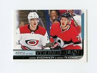18/19 UPPER DECK YOUNG GUNS ROOKIE RC CHECKLIST #500 SVECHNIKOV TKACHUK *61306