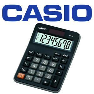 Casio MX8B BLACK Ideal Student Home Business Office Workers Desk Top Calculator