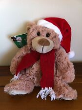 Brown Christmas Hat Teddy Bear Soft Plush Toy /Gift Called Rosie Small