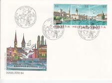 Schweiz  FDC Ersttagsbrief 1984 NABA ZÜRI Mi.Nr.1276-78