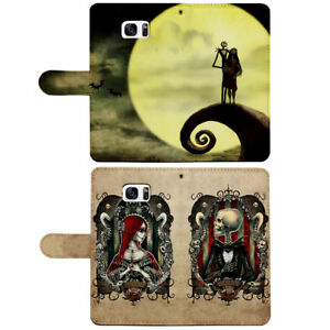 Nightmare Before Christmas Flip Wallet Phone Case fit for iPhone & Samsung Cover