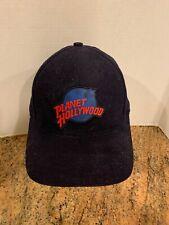 Vintage 1995 Planet Hollywood New York Navy Blue 100% Cotton Strap Back Hat Cap