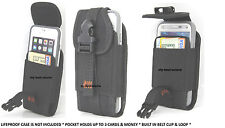 (A52) Wallet Style Holster Belt Clip To Fit Lifeproof iPhone 4/4S Case - Black