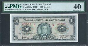 COSTA RICA 100 Colones  P233a 1964 PMG 40