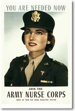You Are Needed Now - Join the Army Nurse Corps - New Vintage Patriotic POSTER