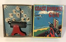 Vintage Baldwin Coast Defense Gun w Hand Crank Mechanism & Shells In Box #830