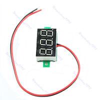 DC2.5-30V Red Volt Voltage Meter Mini LED Display Digital Voltmeter Self-Powered