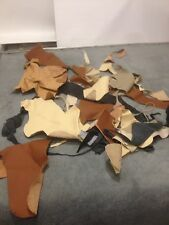 10kg Leather Scrap/Off-cuts/Reminants/Pieces Mixed Colours/Size/Brand