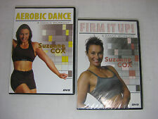 Lot of 2 Suzanne Cox DVDs - Firm it Up! & Aerobic Dance A Dance Workout